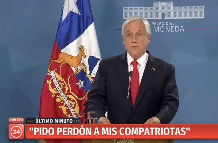 Piñera pide perdón