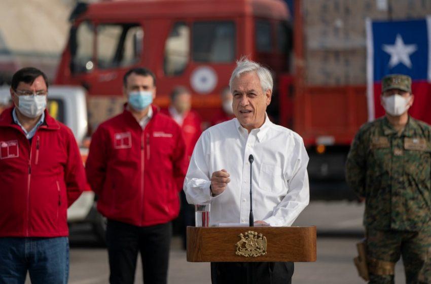 """Piñera: """"Antes del 21 de junio esperamos tener distribuidas todas las cajas"""""""
