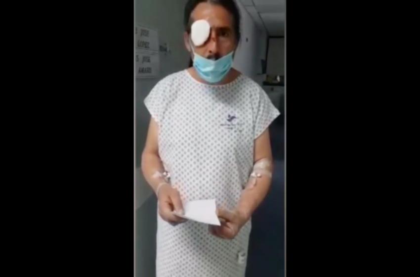 Víctima de trauma ocular en Lo Hermida revela cómo fue agredido por militares