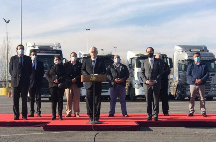 Tras acuerdo con el gobierno dueños de camiones finalizaron seis días de paro