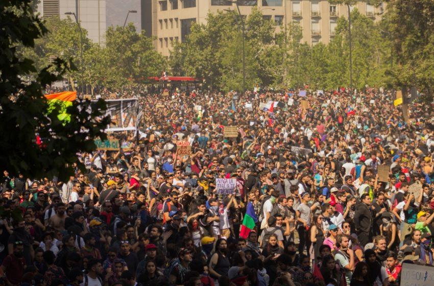 Tras el 18-O las protestas en Chile se multiplicaron por nueve en relación a la década anterior
