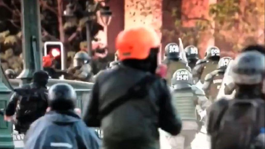 Carabinero lanzó al lecho del río Mapocho a joven manifestante